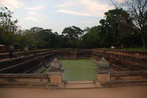 A view of Kuttam Pokuna in Anuradhapura