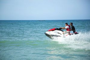 Jet Skiing on the ocean